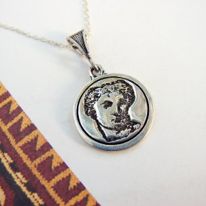 Armenian Goddess Anahit Pendant Sterling Silver 925