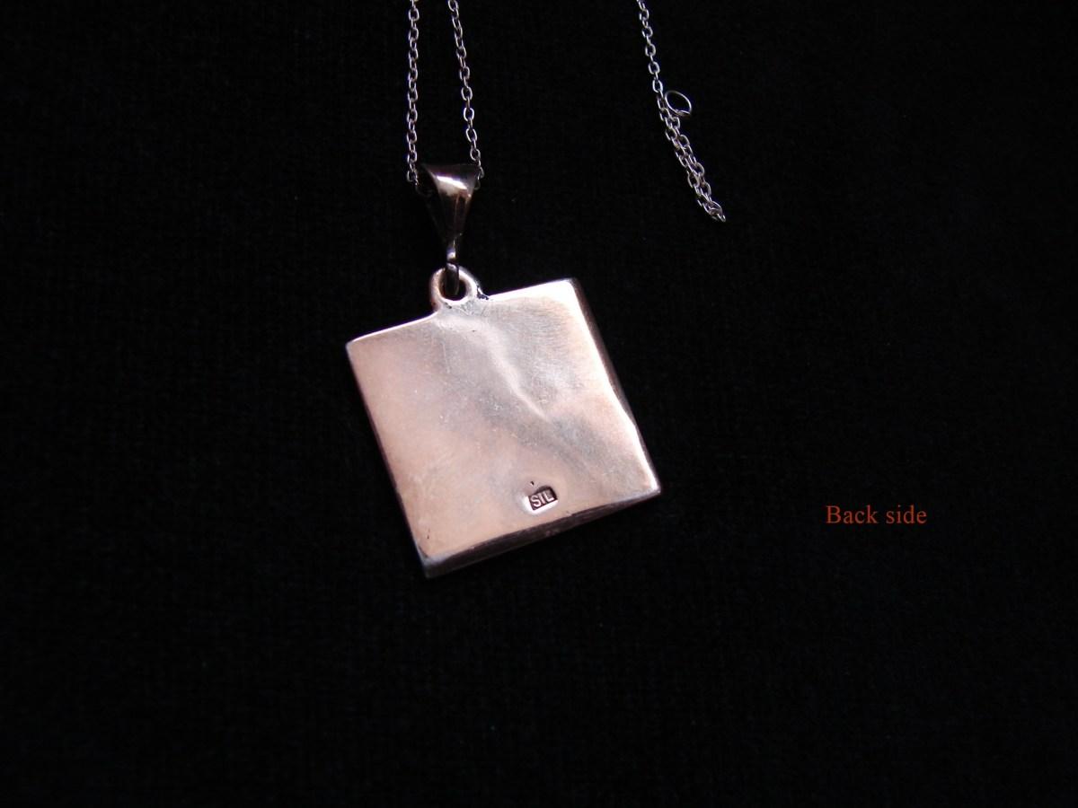 Pendant Artsakh Symbol Grandma and Grandpa, Tatik-Papik, Sterling Silver 925
