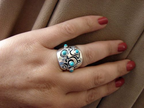 Turquoise Ring Sterling Silver 925
