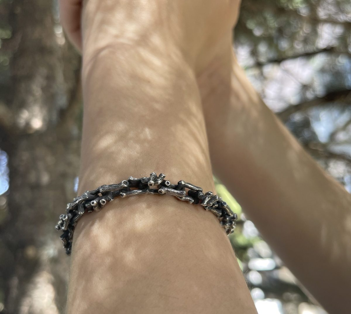 Tree Branch Bracelet Sterling Silver 925, Twig Bracelet, Branch Jewelry