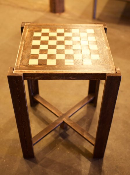 DIY Chess Board Table. Plans by Sunnyand79.