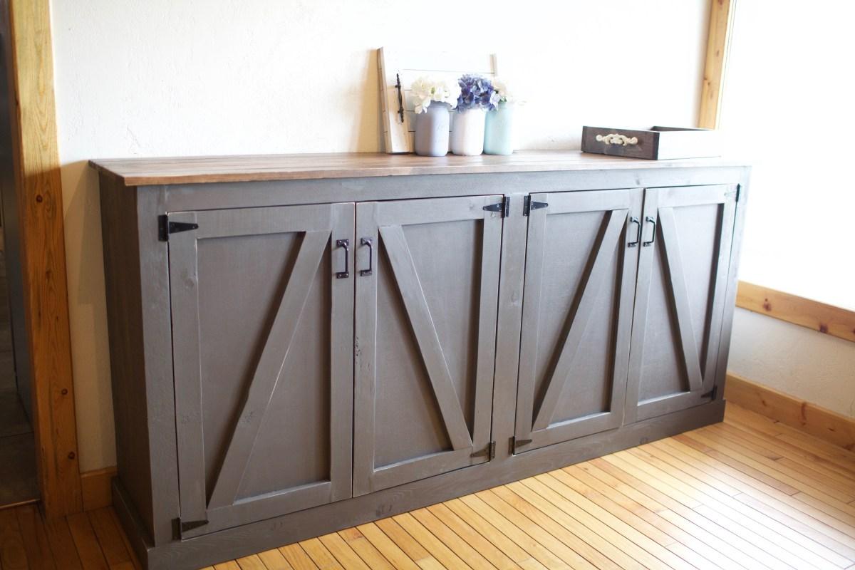 Diy Rustic Sideboard Locker Cabinet
