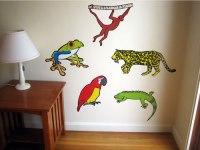 Rainforest Animal Wall Stickers - p Wall Decal