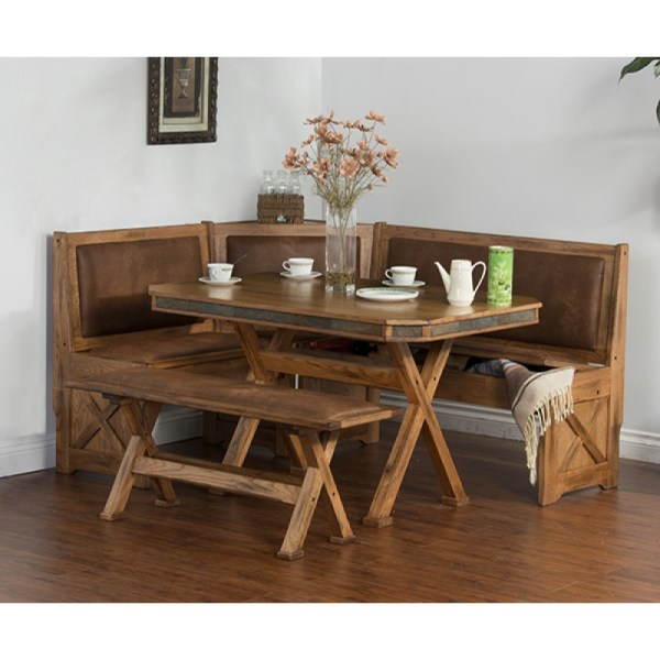 Sedona Breakfast Nook Set with Bench