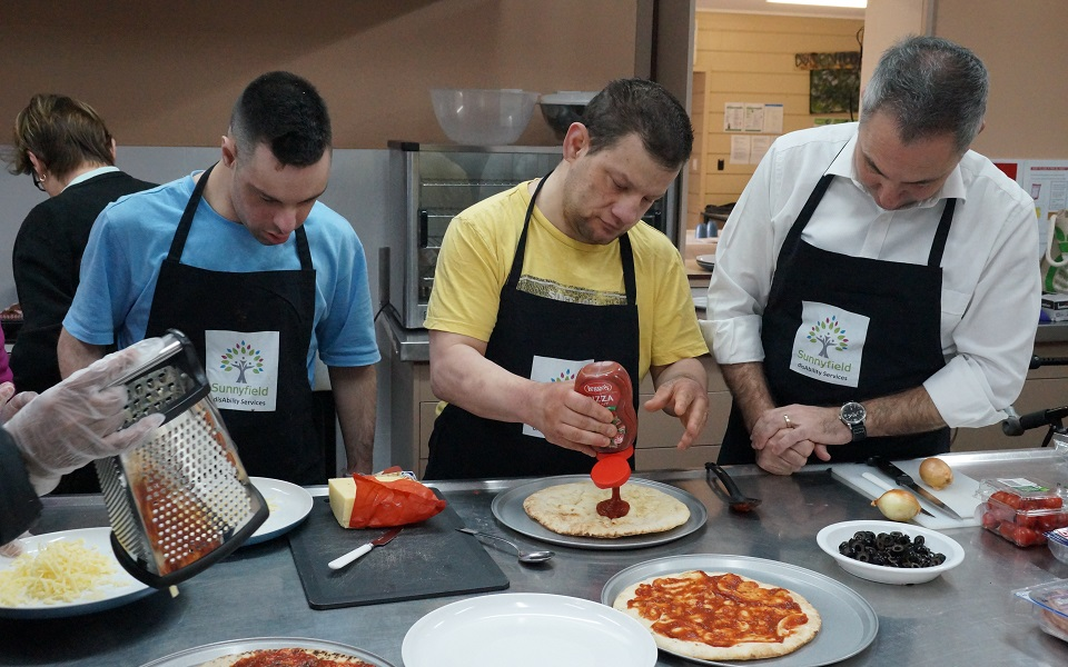 Cooking program in Guildford kitchen