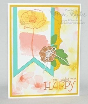 Stampin' Up! Happy Watercolor handmade card