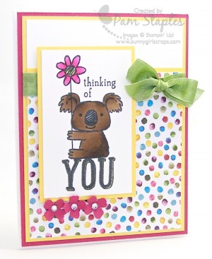 Paper Craft Crew Card Sketch 128 Design Team card created by Pam Staples.  #stampinup #papercraftcrew #pamstaples #sunnygirlscraps