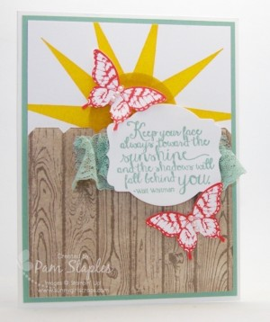 Can You Case It Summer Fun Edition Challenge. Card created by Design team member, Pam Staples. #cyci #stampinup #pamstaples #sunnygirlscraps