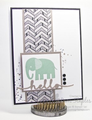 Paper Craft Crew Card Sketch 152 Submission by Pam Staples.  #pamstaples #sunnygirlscraps #stampinup #zoobabies