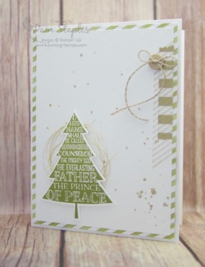 Handmade card by Pam Staples featuring the Peaceful Pines bundle for the RemARKables Blog Tour