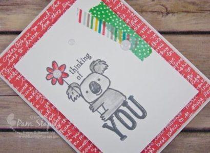 Farewell Kind Koala card created by Pam Staples, Sunny Girl Scraps. #stampinup #kindkoala #pamstaples