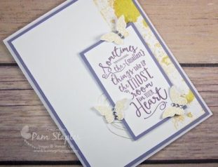 Layering Love Stamp Set is the focal background of this clean and simple card created by Pam Staples as a design team member of Can You Case It. #stampinup #layeringlove #cyci #sunnygirlscraps