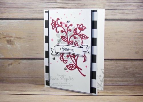 Can You Case It? Color Challenge 125 design team card created by Pam Staples featuring the Flourishing Phrases Stamp Set. #stampinup #flourishingphrases #pamstaples #sunnygirlscraps