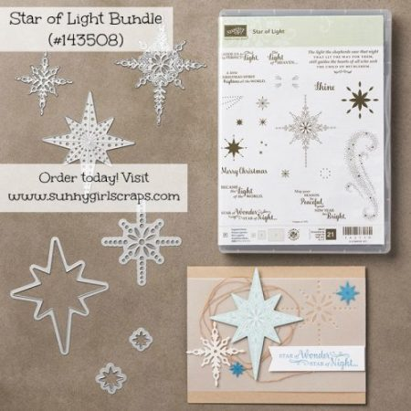 Star of Light Bundle featured by Pam Staples, Stampin' Up! Independent Demonstrator. Visit my blog, www.sunnygirlscraps.com to order your bundle today! #sunnygirlscraps #holidaycatalog #staroflightbundle #stampinup