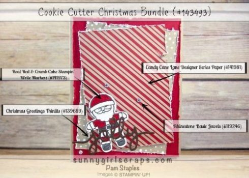 I have a Jolly Cookie Cutter Christmas Card for this weeks Can You Case It? Challenge!  Pam Staples, Sunny Girl Scraps, created this jolly card featuring the Cookie Cutter Christmas Bundle.    #cyci136 #sunnygirlscraps #stampinup #cookiecutter #hermine  Place an order today by visiting my blog at www.sunnygirlscraps.com for more information.