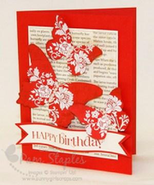 Fresh Vintage Butterfly Birthday Card
