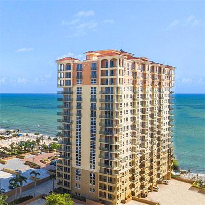 2080 ocean condominium complex in Hallandale Beach