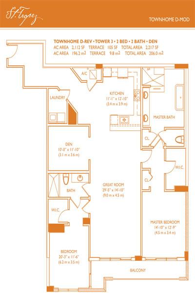 St Tropez Townhome Floor Plan