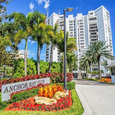 Anchor Bay Club condominium complex in Hallandale Beach