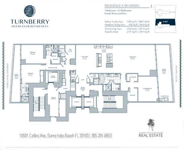 turnberry ocean club floor plan A Reversed