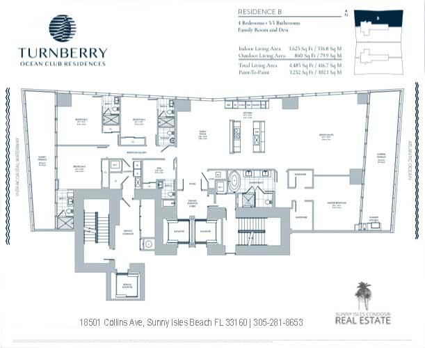turnberry ocean club B floor plan