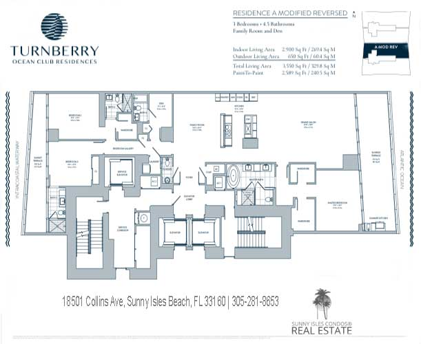 A Modified Reversed turnberry ocean club floor plans