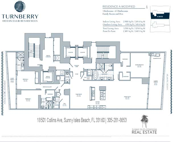 A Modified turnberry ocean club floor plans