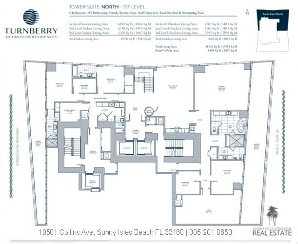 turnberry ocean club tower suite north floor plans