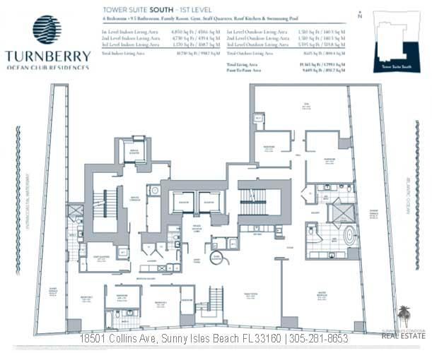 turnberry ocean club towers suite south floor plan