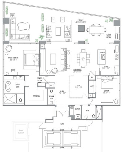 Muse floor plans - new developments at Sunny Isles Beach