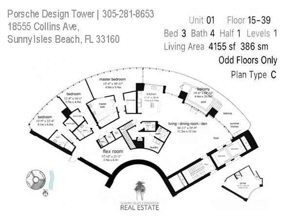 porsche tower line 01 floor plan