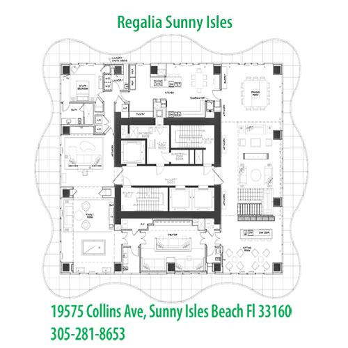 regalia apartment building floor plans sunny isles beach fl 33160