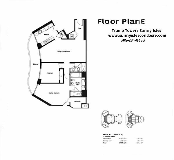 Trump Towers Floor Plan E & E1