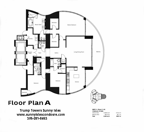 Trump Towers I Floor Plan A