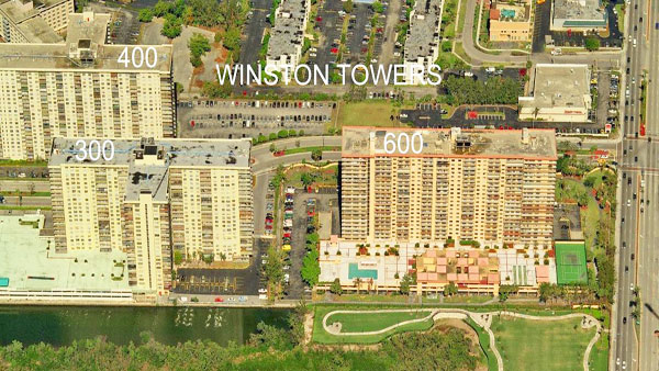 Winston Towers 600 aerial view