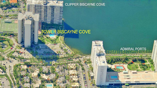 biscayne cove aerial view