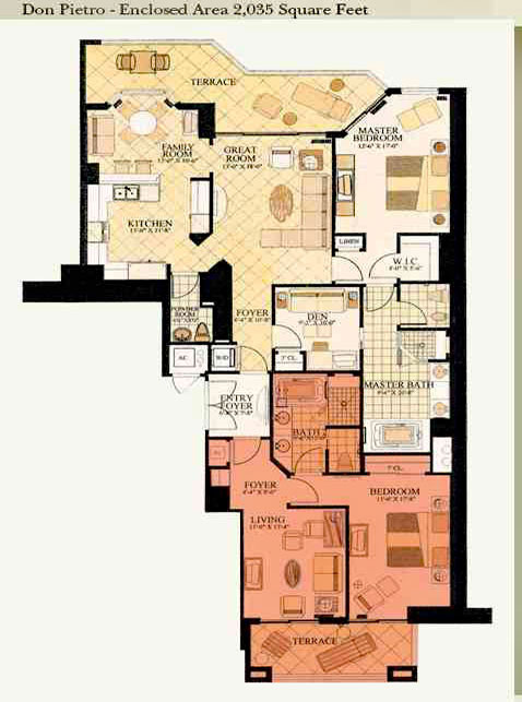 acqualina don Pietro floor plan