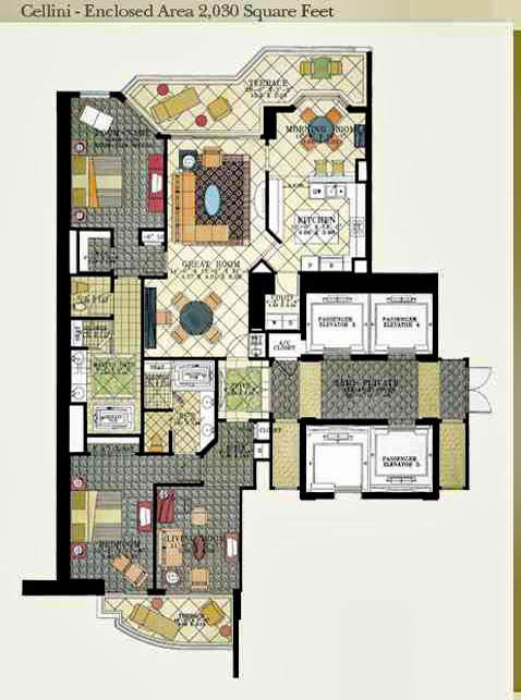 acqualina Cellini floor plan