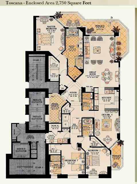 acqualina toscana floor plan