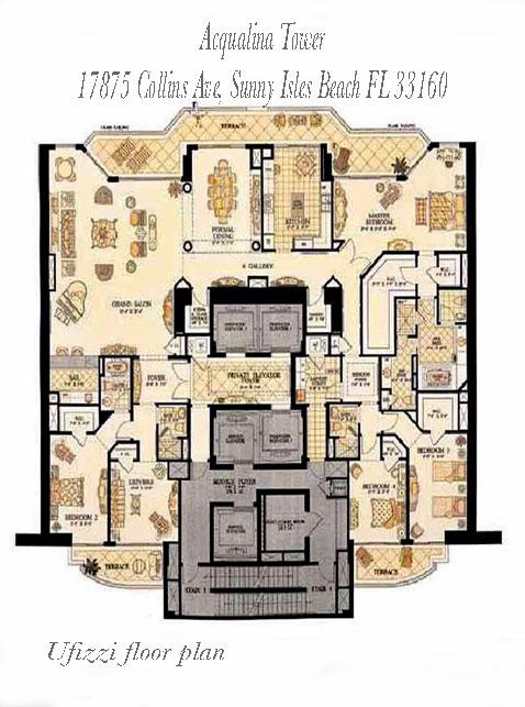 acqualina ufizzi floor plans