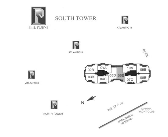 south tower at the point
