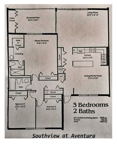 south view at aventura floor plans