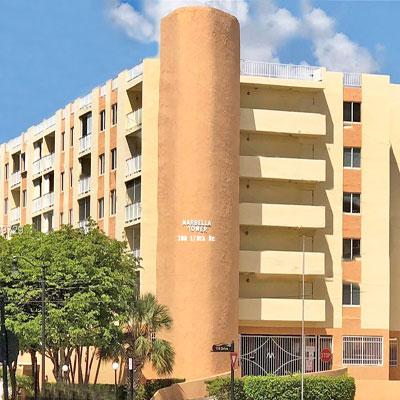 Marbella tower condo complex