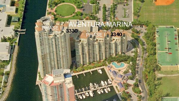 aventura marina 1 aerial view