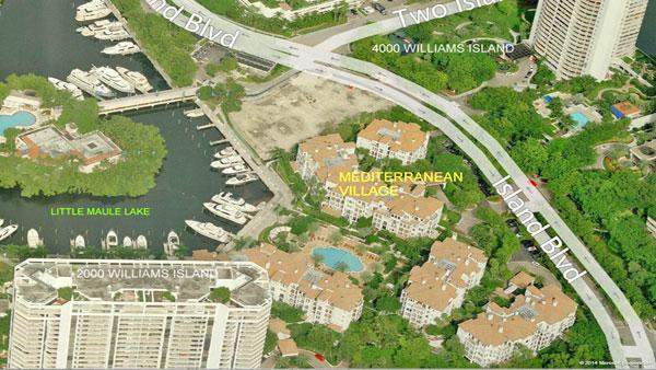 mediterranean village aerial view