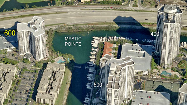 600 mystic pointe aerial view