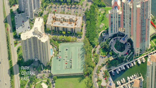 parc central east aerial view