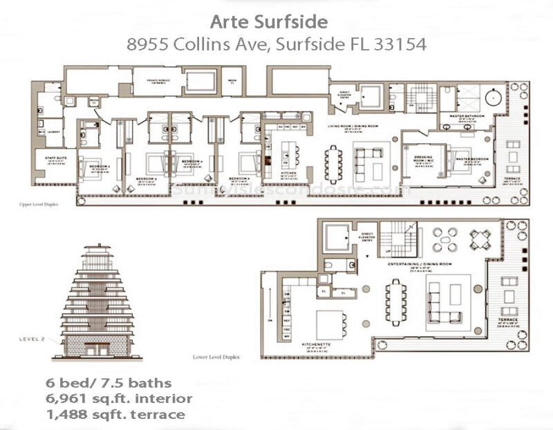 arte surfside floor plans