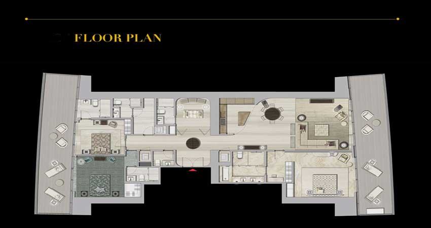 Armani floor plans