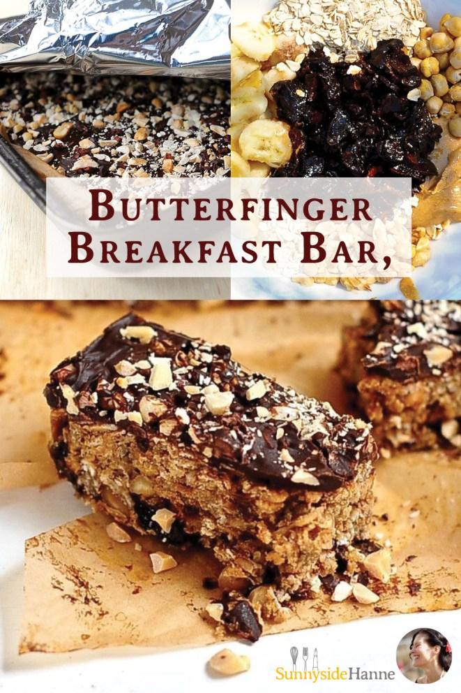 Butterfinger Peanut butter Breakfast Bar Pinterest pin